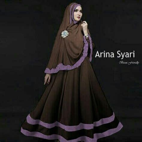 Maxi Dress Muslim Dress Wanita Arina Maxi jual maxi arina syari set 2in1 brick murah di lapak ceria