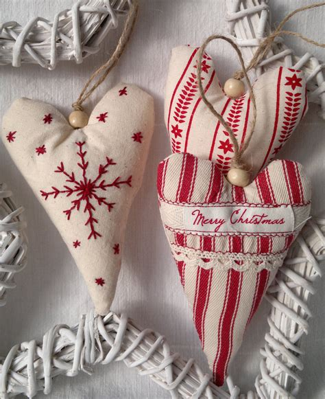 christmas bulbs demcoration with fabric set of three and white fabric ornament hanging decoration 20 00 via etsy