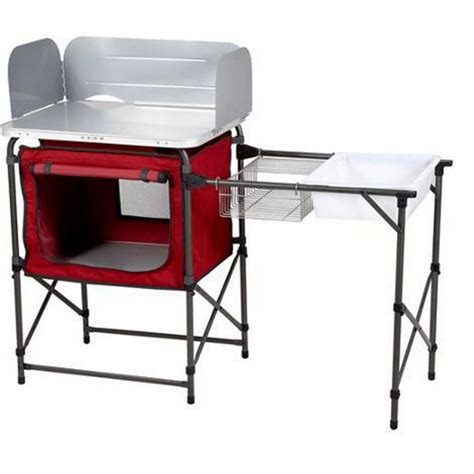 kitchen folding table portable folding c kitchen sink table outdoor rv cing cooking food prep ebay