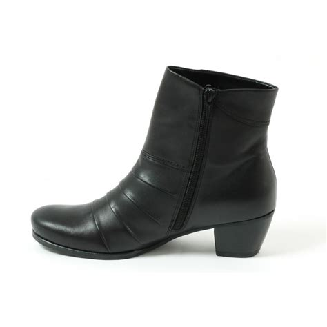 gabor boots tiger womens ankle boot in black leather mozimo