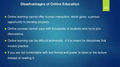 Online Tutorial Disadvantages | is online the future of education