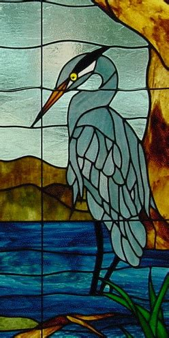stained glass pattern blue heron blue heron stained glass pinterest blue heron