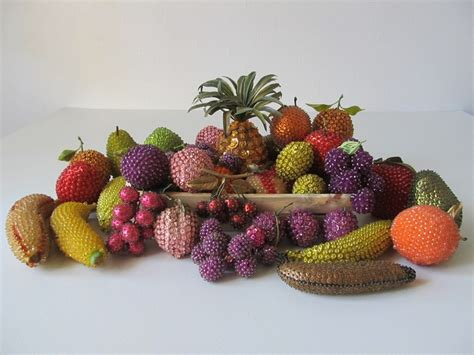 beaded fruit 1000 images about vintage beaded fruit on