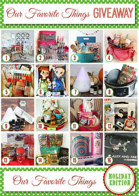 Giveaways To Enter - my favorite things holiday giveaway my sweet sanity