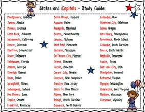 teacher s take out states and capitals free study guide