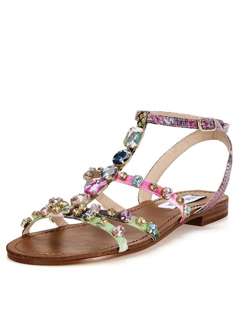 steve madden embellished sandals steve madden bjewled flat embellished sandals in