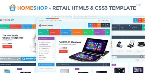 bootstrap shopping template home shop retail html5 css3 template bootstrap