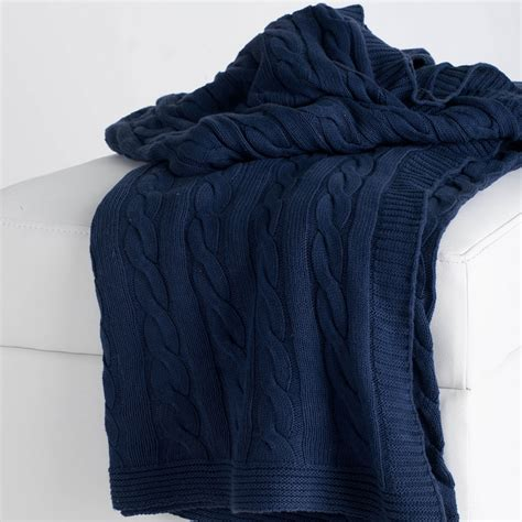 navy knit throw district17 navy cable knit throw blanket throw blankets