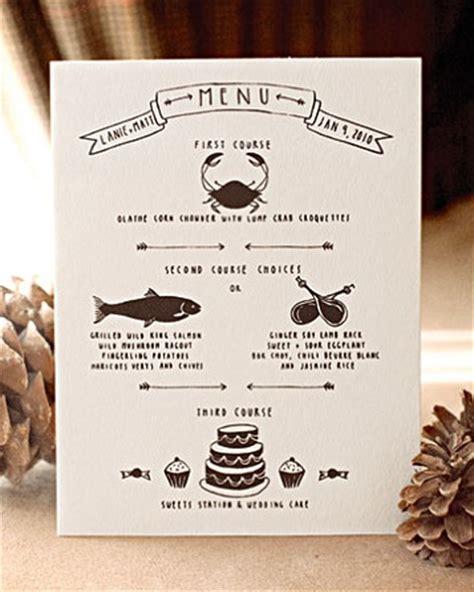 unique dinner menus wedding details creative menu ideas