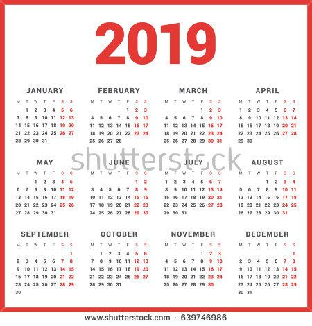 2019 calendar stock images, royalty free images & vectors