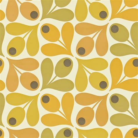 house pattern fabric multi acorn spot wallpaper saffron 110419 harlequin