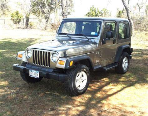 tan jeep wrangler 2 door sell used 2004 jeep wrangler x sport utility 2 door 4 0l