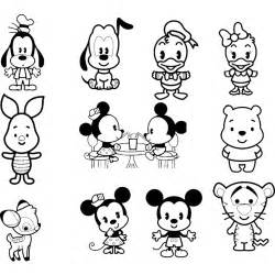 disney cuties coloring pages free coloring pages of disney cuties set