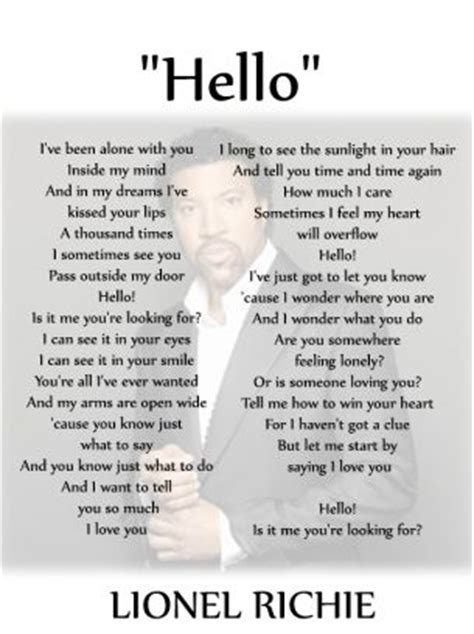 printable lyrics adele hello rock out to lionel richie free printable sheet music