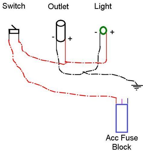 wiring 12 volt lights s klr650 website 12v outlet