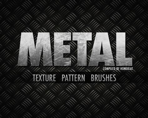 metal logo design photoshop 30 high quality metallic texture pattern brushes and