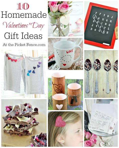 homemade valentine s day gifts homemade valentines day gifts at the picket fence