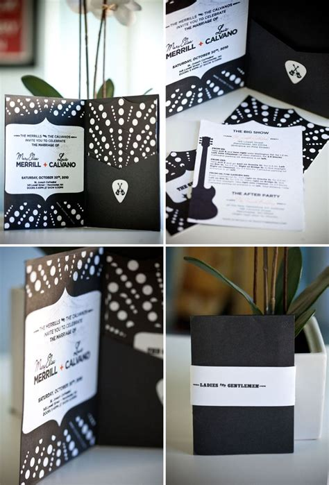 rock wedding invitations 39 best images about rock n roll bridal shower on