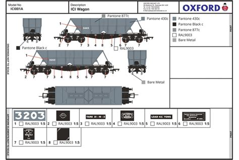 Rostok 3203 Grey Black hattons co uk oxford rail ici001a ici hopper wagon 3203 in mid grey with black