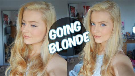 going from brown to platinum hair at home vlog