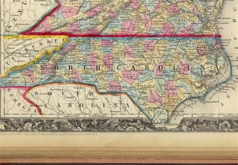 virginia and carolina map 1860 county map of carolina and southern virginia