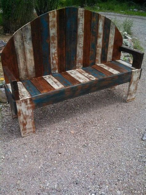 rustic pallet bench pallet benches benches and pallets on pinterest