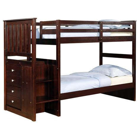 donco bunk beds donco cappuccino twin twin stariway bunk bed dallas tx