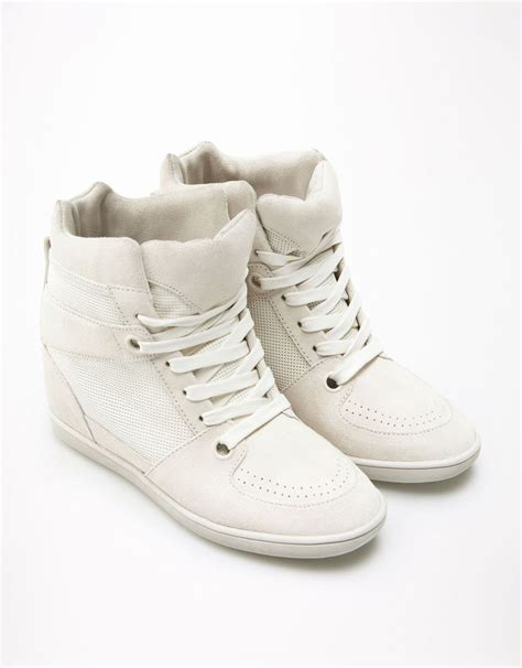 bsk leather sports wedges sneakers wedges