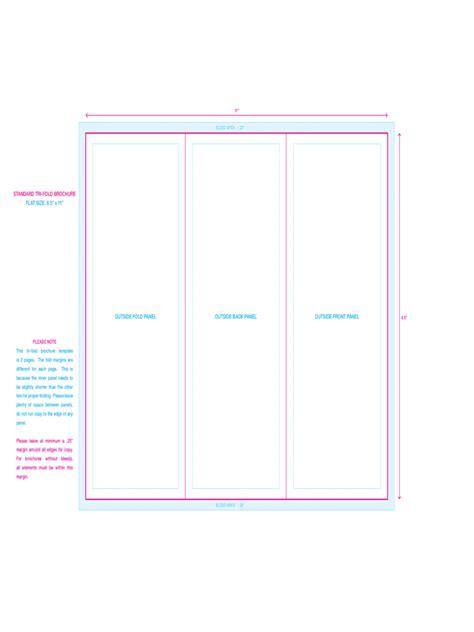 tri fold brochure templates word free download csoforum info