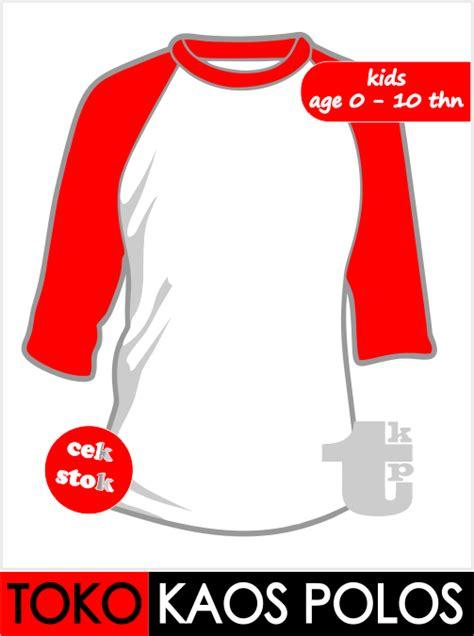 Kaos Putih Bendera toko bunda dan anak raglan putih merah