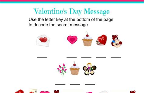 secret s day messages s day secret message worksheet 28 images 10 best road