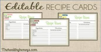 fillable recipe card template real food recipe cards diy editable the healthy honeys