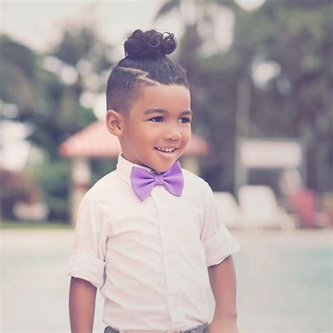 bxlack boy infant ponytail hairstyles man bun undercut kids