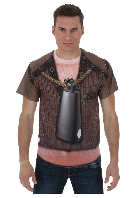 Cow Bell need more cowbell sublimated costume t shirt