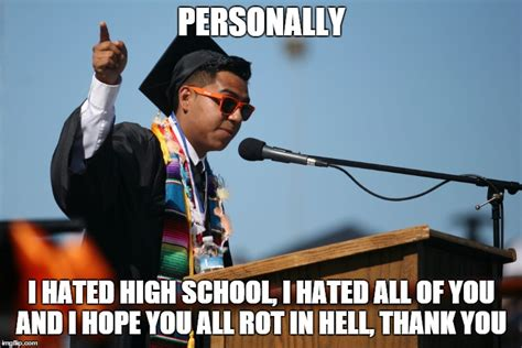 High School Senior Meme - graduation speech meme www pixshark com images