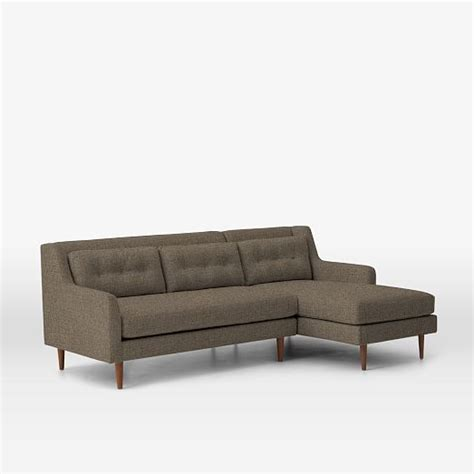 crosby sofa with chaise crosby 2 piece chaise sectional shale pebble weave