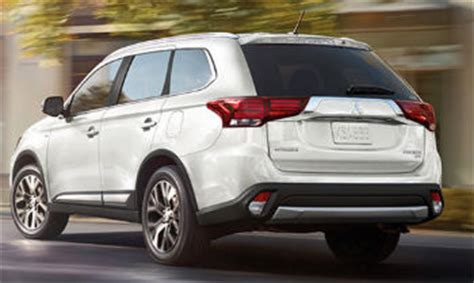 mitsubishi outlander is the least expensive suv with 3rd