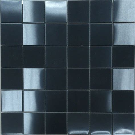 brush black metal mosaic wall tile backsplash smmt031