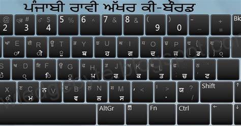 keyboard layout of joy font punjabi raavi font keyboard with english characters