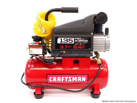 craftsman 15362 3 gallon 1 hp air compressor ebay