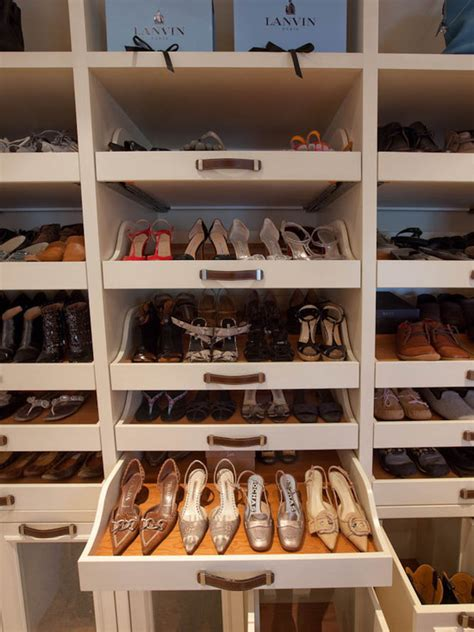 Shoe Storage With Drawers by Pull Out Shoe Drawer Design Ideas
