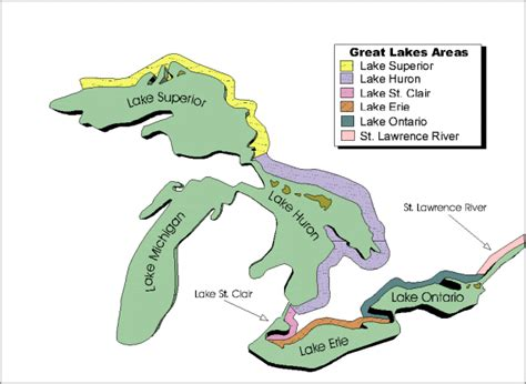 canadian map with great lakes appendix 1 fisheries and oceans canada