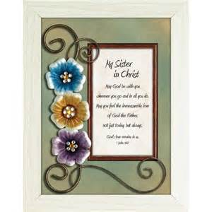 Creative Housewarming Gifts my sister in christ framed christian tabletop home dcor