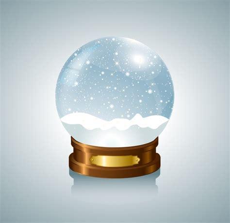 silver snow globe free vector in adobe illustrator ai