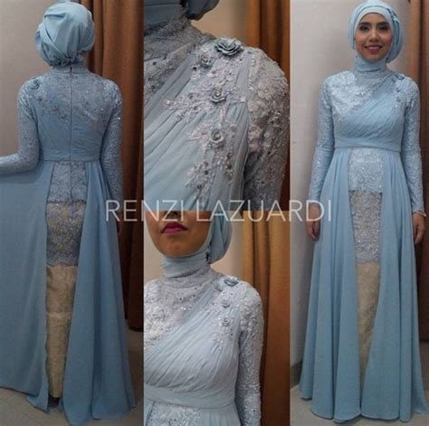model gaun atasnya bahan kebaya contoh dress bahan brokat hairstylegalleries com