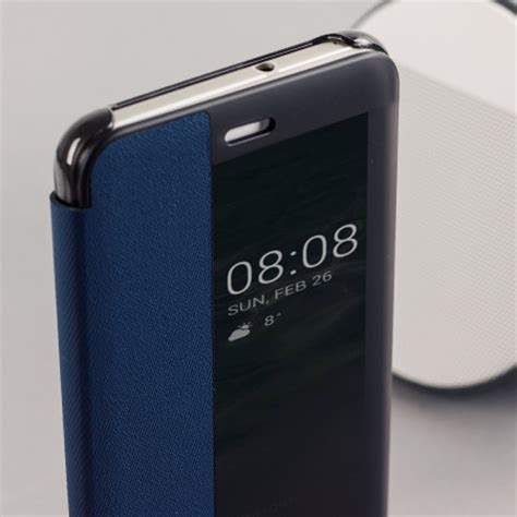 official huawei p10 lite smart view flip case blue