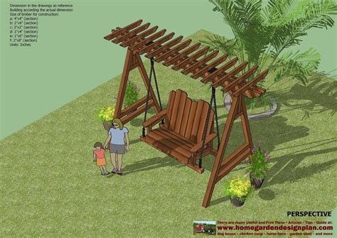 swing design home garden plans sw101 arbor swing plans construction
