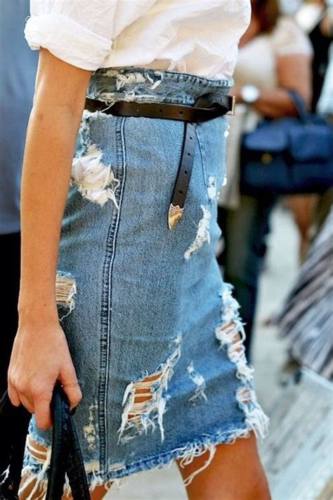 eat sleep denim denim skirt