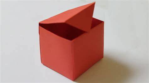 Folding A Box Out Of Paper - how to make a paper box that opens and closes