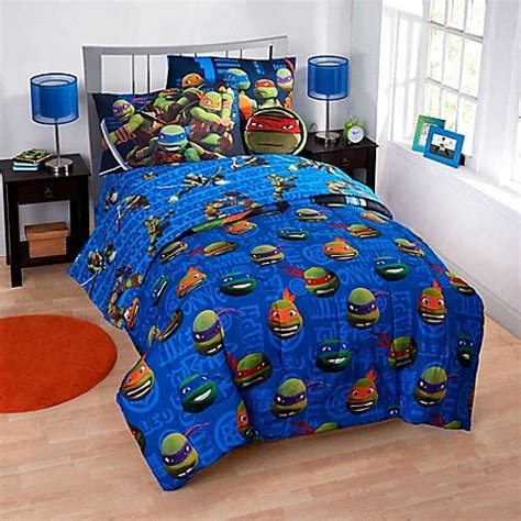 ninja turtle bedding set teenage mutant ninja turtles 6 7 piece reversible